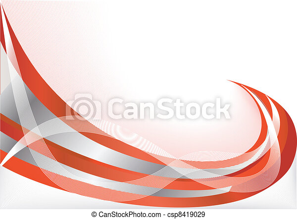 Vector red abstract background - csp8419029