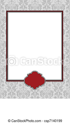 Vector red big and small frames and background. easy to edit ...