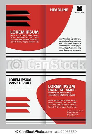 Vector Red Brochure Template Design