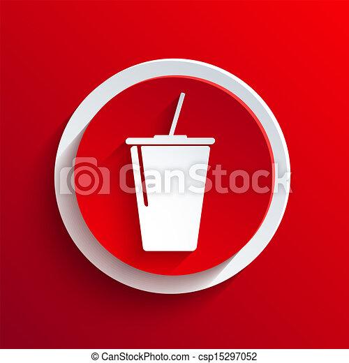 Vector red circle icon. Eps10 - csp15297052