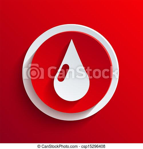 Vector red circle icon. Eps10 - csp15296408