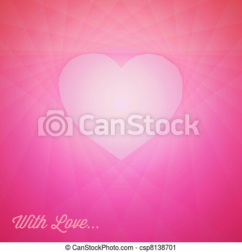 Vector red heart - Valentines card - csp8138701