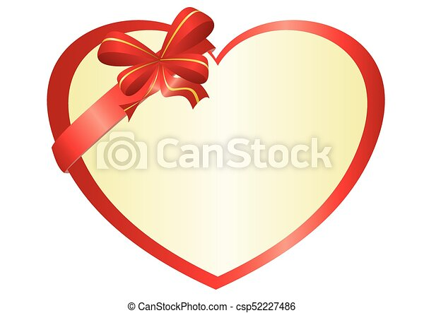 Line Art Love Heart : Vector red heart with bow knot search clip art