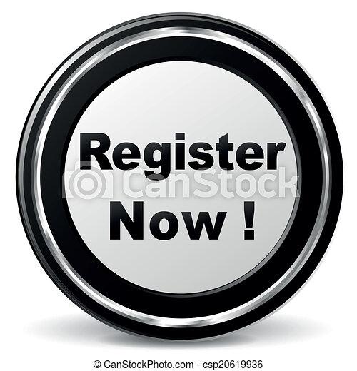 Vector register icon - csp20619936