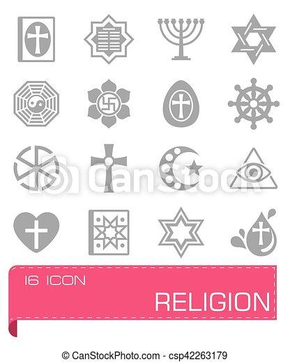 Vector Religion icon set - csp42263179