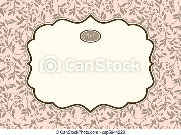 Vector Repeating Ivy Background and Frame - csp5944220