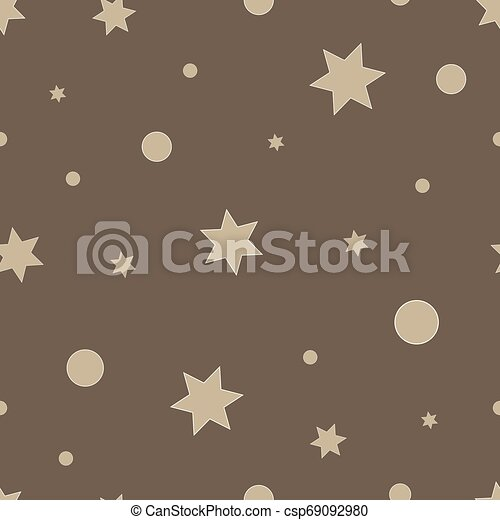 Vector repeating texture. Seamless geometric pattern with stars. - csp69092980