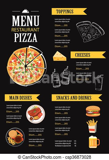 vector restaurant cafe menu template flat design - csp36873028