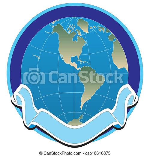 Abstraer la bandera del globo. Ilustración de vectores. - csp18610875