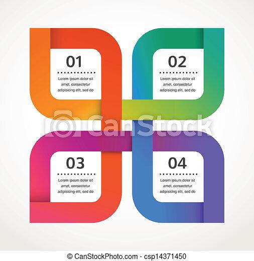 vector, resumen, infographics, plano de fondo, diseño, icono - csp14371450