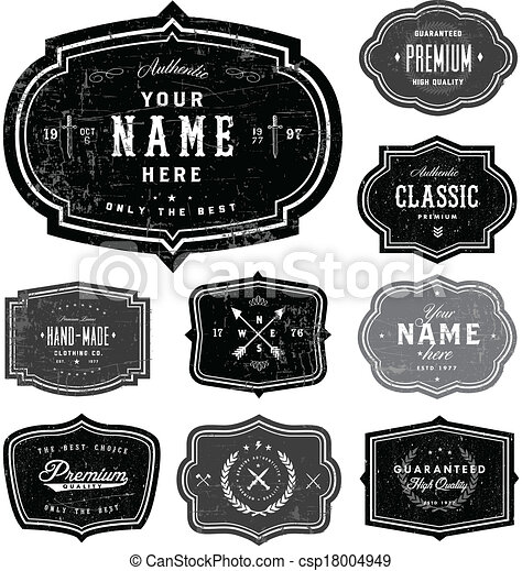 Vector Retro Badge Template Set - csp18004949