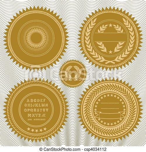 Vector reward seals - csp4034112