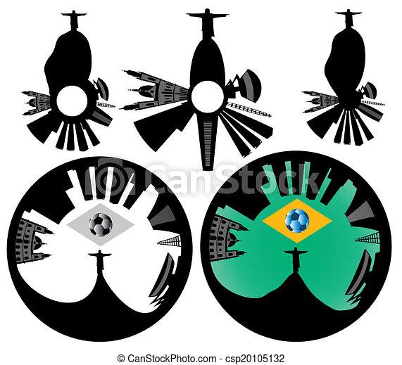 Vector Rio de Janeiro skyline - csp20105132