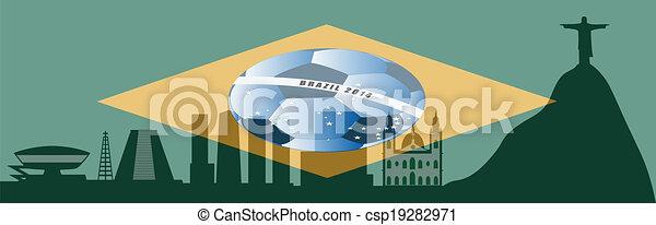 vector Rio de Janeiro skyline - csp19282971