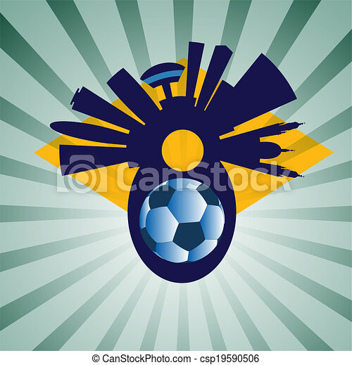 vector Rio de Janeiro with ball - csp19590506