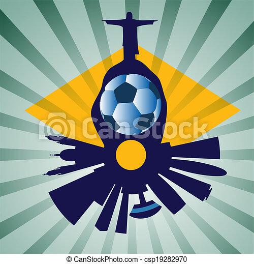 Vector Rio de Janeiro with Jesus Re - csp19282970
