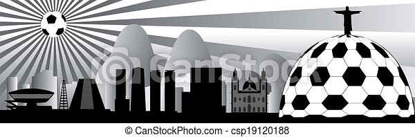 vector Rio skyline - csp19120188