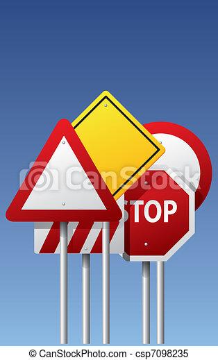 Vector road signs - csp7098235