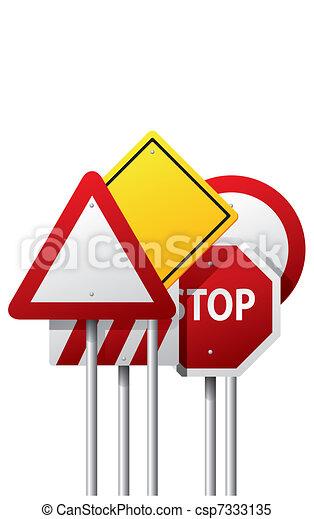 Vector road signs - csp7333135