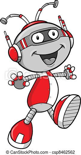 vector, robot, illustratie - csp8462562
