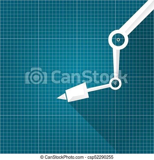 Vector robotic arm symbol on blueprint paper background robot hand vector robotic arm symbol on blueprint paper background robot hand technology background design template malvernweather Gallery