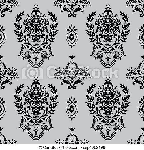 Vector Roman Vase Pattern