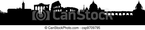 Vector - Rome Silhouette - csp9709795