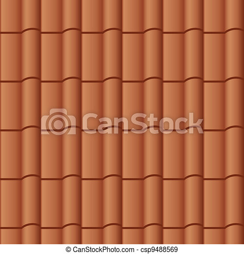 vector roof tile seamless background - csp9488569