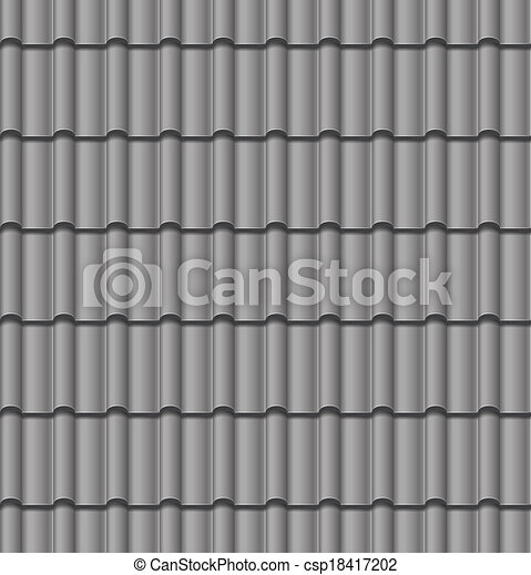vector roof tile seamless background - csp18417202