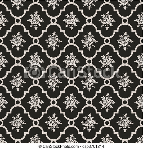 Vector roses seamless pattern - csp3701214