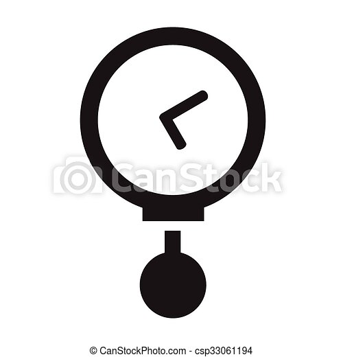 Vector round black timer icons - csp33061194