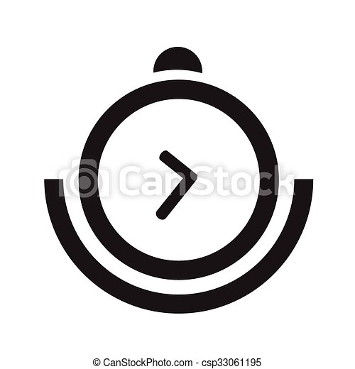 vector round black timer icons - csp33061195
