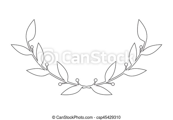 vector round frame with branch of ivy - csp45429310