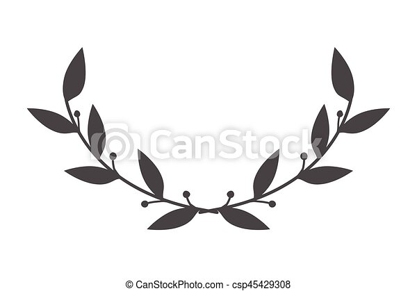 vector round frame with branch of ivy - csp45429308