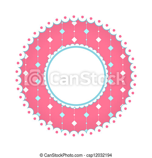 vector rounded label on artistic background - csp12032194