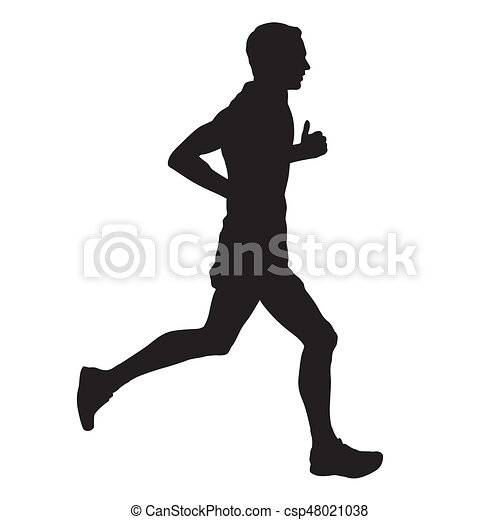vector runner side view isolated silhouette vectors search clip rh canstockphoto com runner vector image runner vector png