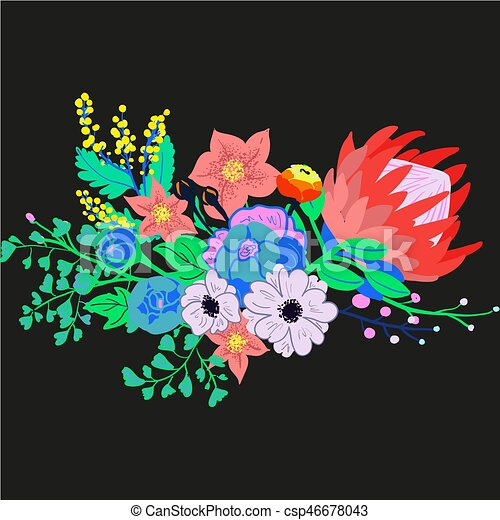 Vector Rustic Flower Bouquet