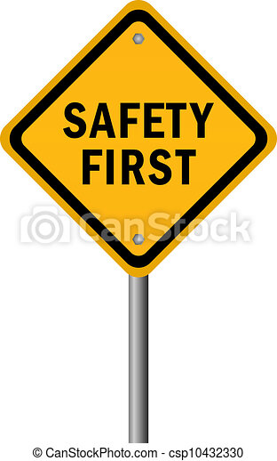 Vector safety first sign - csp10432330