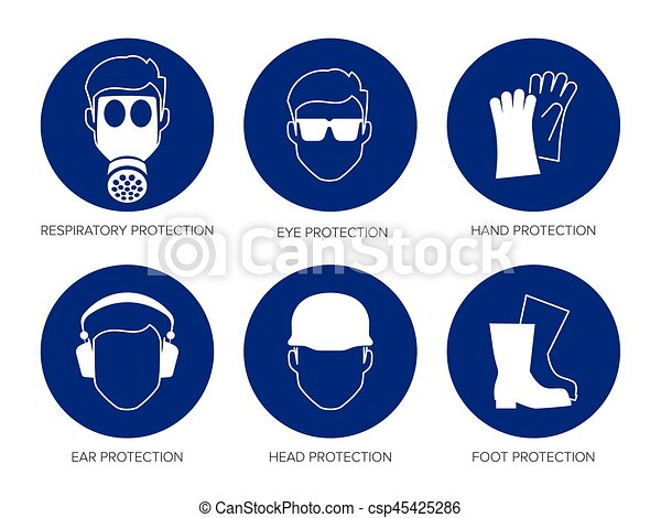 vector safety signs - csp45425286