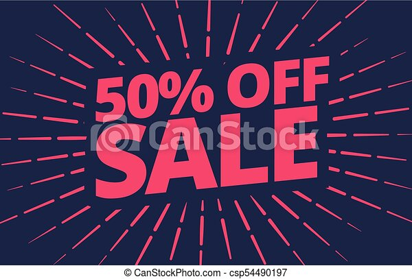 vector sale banner design template - csp54490197