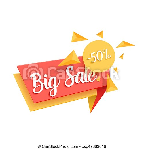 Illustration Of Vector Sale Tag Template Big Sale Promotion