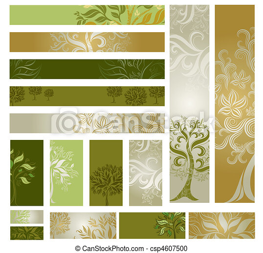 Vector samples of web-design (banners) - csp4607500