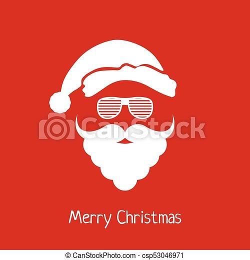 10c43844802 Vector santa claus head with hat