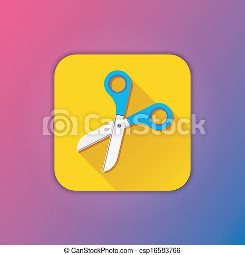 Vector Scissors Icon - csp16583766