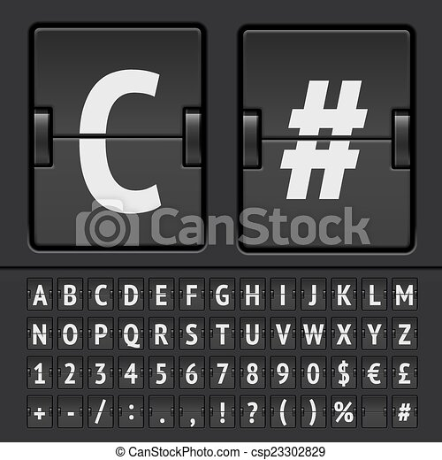 Vector scoreboard alphabet - csp23302829
