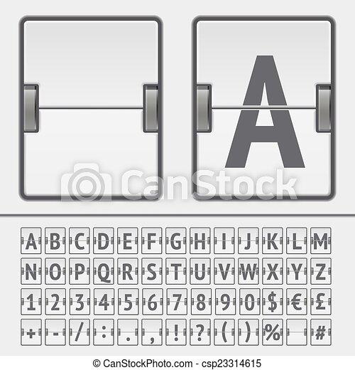 Vector scoreboard alphabet - csp23314615