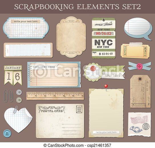 Vector Scrapbooking Elements Set 2 - csp21461357