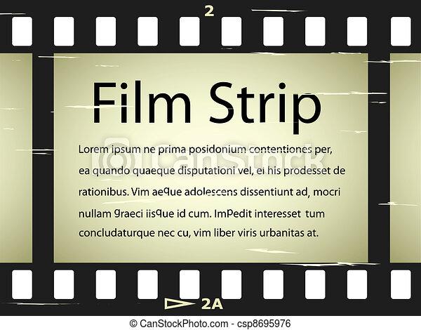 vector scratched film strip - csp8695976