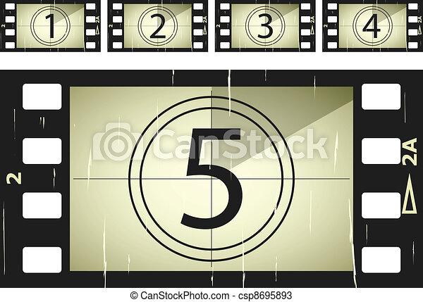 vector scratched film strips - csp8695893