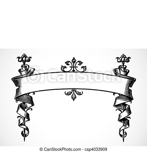 vector scroll banner highly detailed vector scroll ornament easy rh canstockphoto com vector scroll banner vector scroll banner